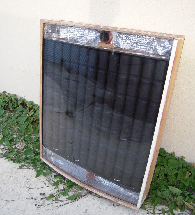Réflexions sur un prototype de chauffage solaire fait main