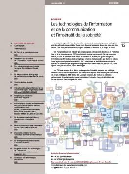 Les TIC et l'impératif de sobriété
