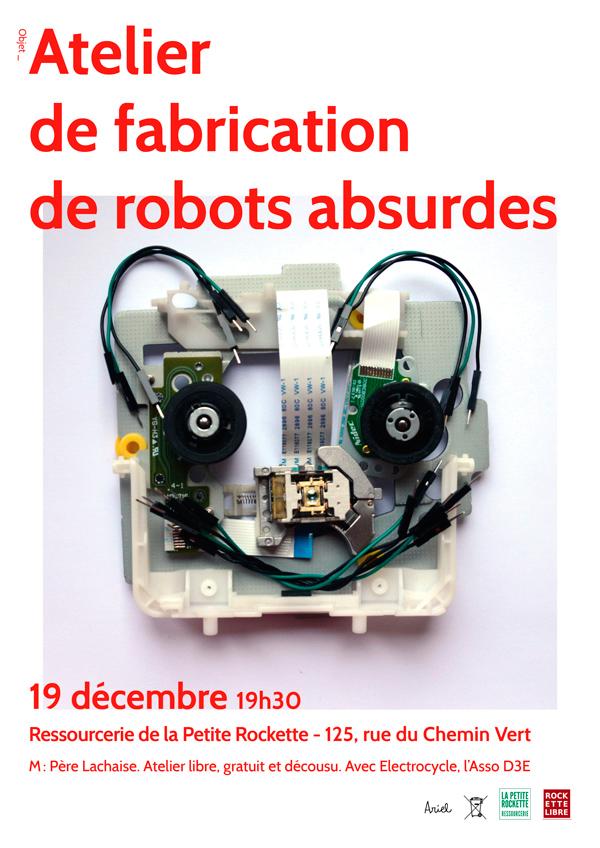 Du démontage à la réutilisation de pièces détachées d'équipements électriques & électroniques : les robots absurdes